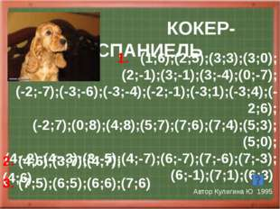 Хомячок Автор Полосина М 2002 1.(-2;9,5);(-4;8);(-7;10);(-7;6,5);(-6;6); (-8