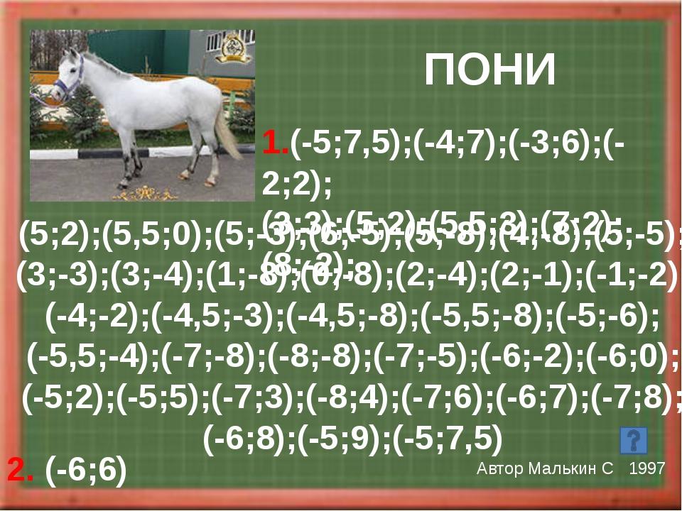 АИСТ Автор Моисеев Р 2002 1.(3,5;3);(2;3);(9;-3);(3,5;3);(3,5;4); (2;5,5);(0...