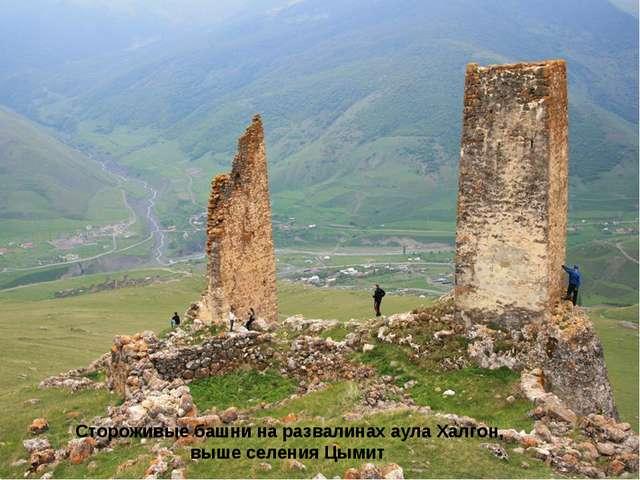Стороживые башни на развалинах аула Халгон, выше селения Цымит