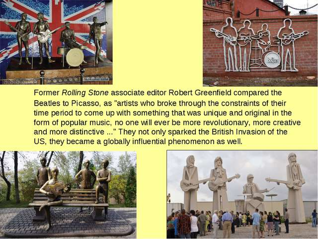 Former Rolling Stone associate editor Robert Greenfield compared the Beatles...