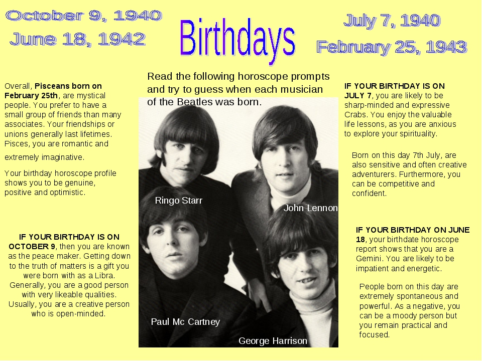 IF YOUR BIRTHDAY IS ON JULY 7, you are likely to be sharp-minded and expressi...