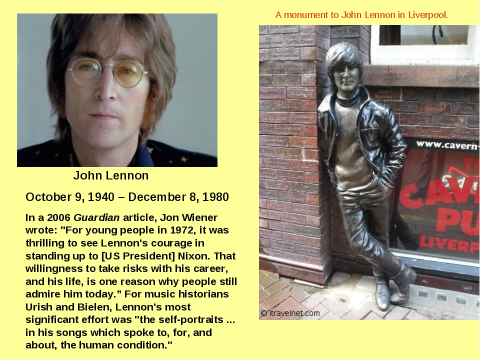 a biography of john lennon the english musician Beatles musician john lennon is getting a comic book biography the late star, who was murdered in new york in 1980, will feature in a new graphic novel lennon, which will tell the story of his.