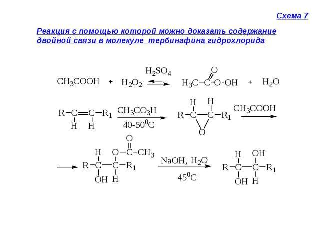 Схема 7 Реакция с помощью которой можно доказать содержание двойной связи в м...