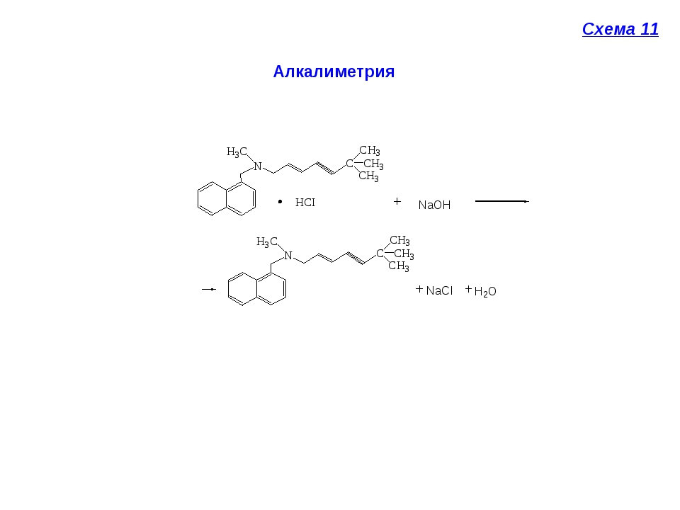Алкалиметрия Схема 11
