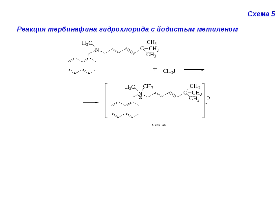 Схема 5 Реакция тербинафина гидрохлорида с йодистым метиленом