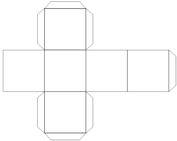 Как сделать параллелепипед из бумаги квадрат