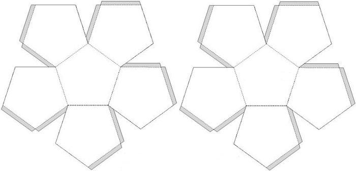 Как сделать додекаэдр из бумаги схема с размерами