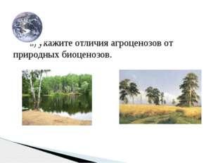 в) укажите отличия агроценозов от природных биоценозов.