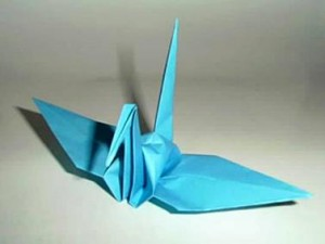 Аист в технике оригами – идеи для декорирования стен