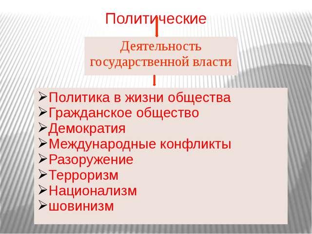 Политические Деятельность государственной власти Политикав жизни общества Гра...