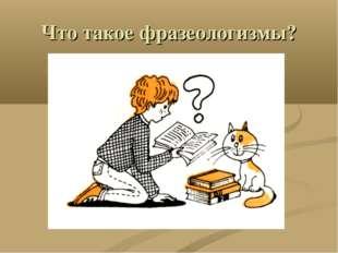 Что такое фразеологизмы?