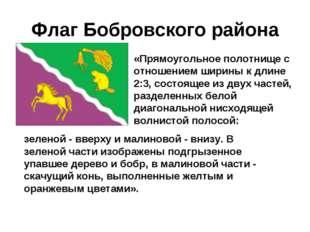 Флаг Бобровского района «Прямоугольное полотнище с отношением ширины к длине