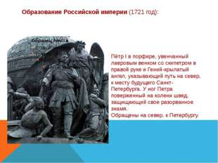 Образование Российской империи (1721 год): Пётр I в порфире, увенчанный лавро