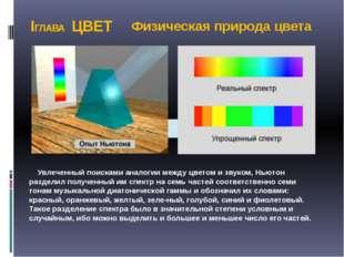 IГЛАВА ЦВЕТ  Увлеченный поисками аналогии между цветом и звуком, Ньютон разд