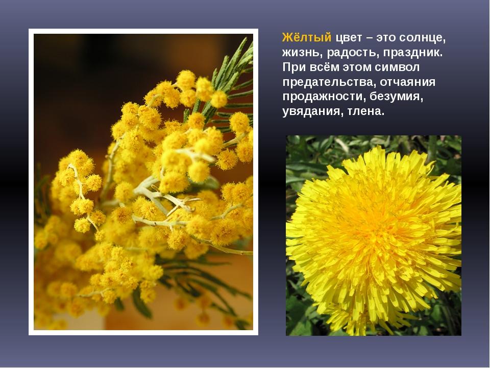 Жёлтый цвет – это солнце, жизнь, радость, праздник. При всём этом символ пред...