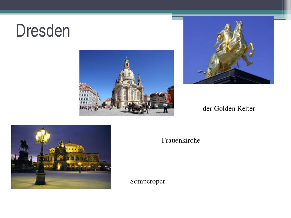 Dresden der Golden Reiter Semperoper Frauenkirche