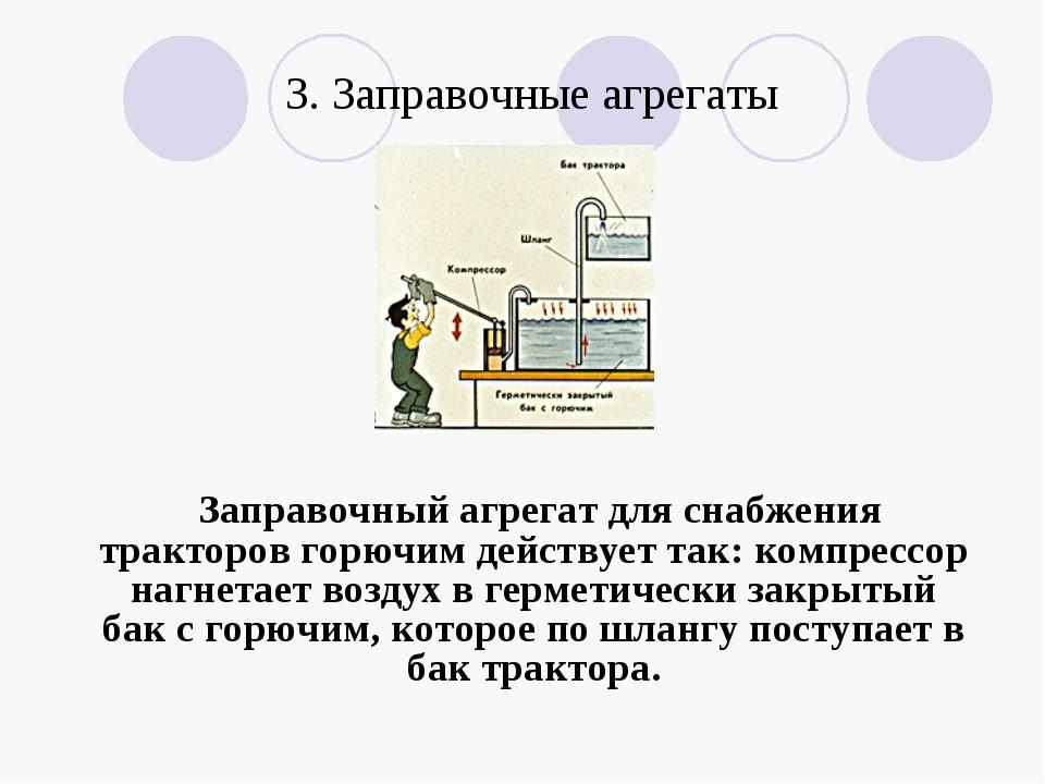 3. Заправочные агрегаты Заправочный агрегат для снабжения тракторов горючим д...