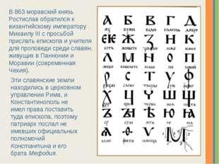 Эти славянские земли находились в церковном управлении Рима, и Константинопол