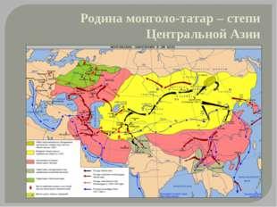 Родина монголо-татар – степи Центральной Азии