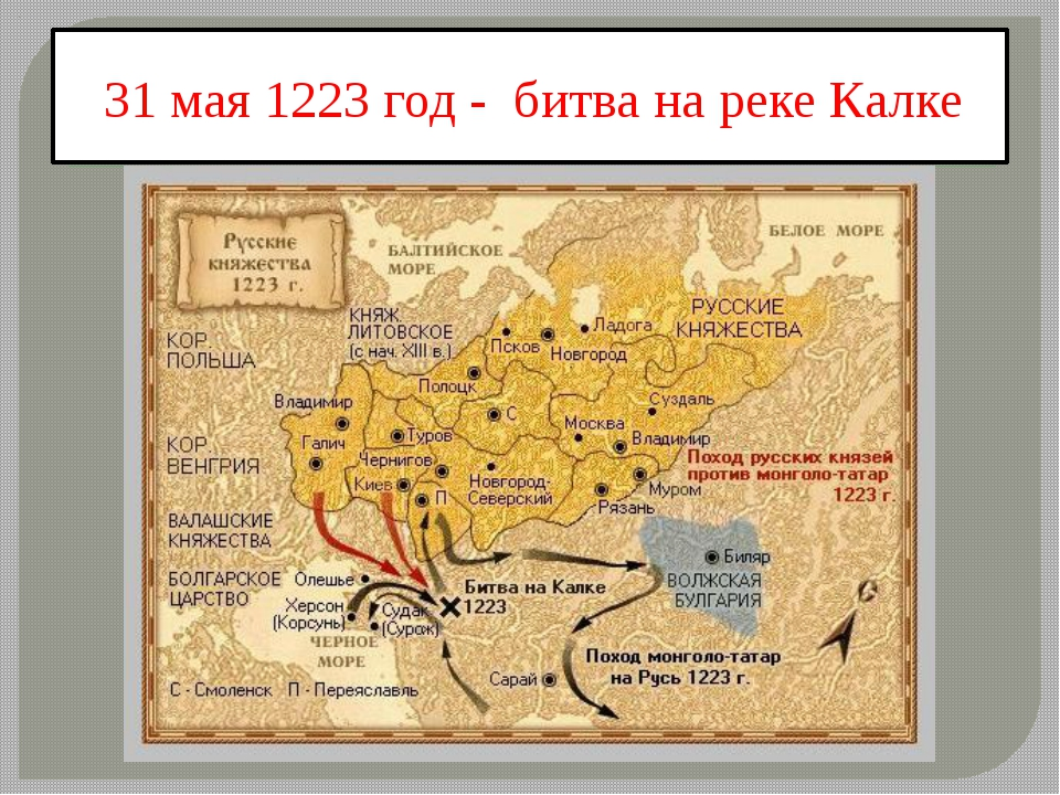 31 мая 1223 год - битва на реке Калке