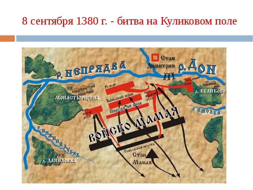 8 сентября 1380 г. - битва на Куликовом поле