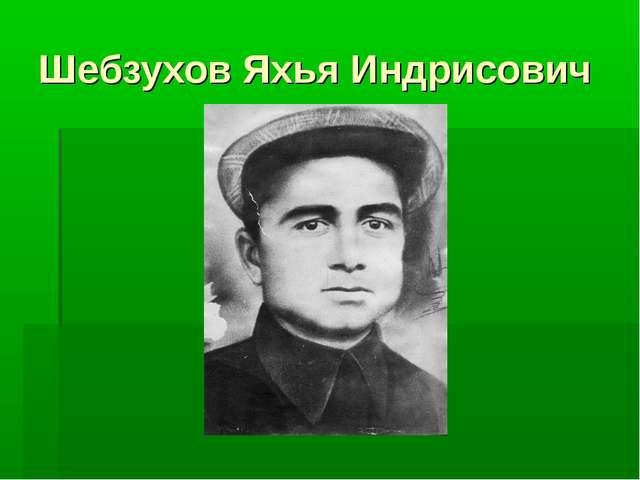 Шебзухов Яхья Индрисович