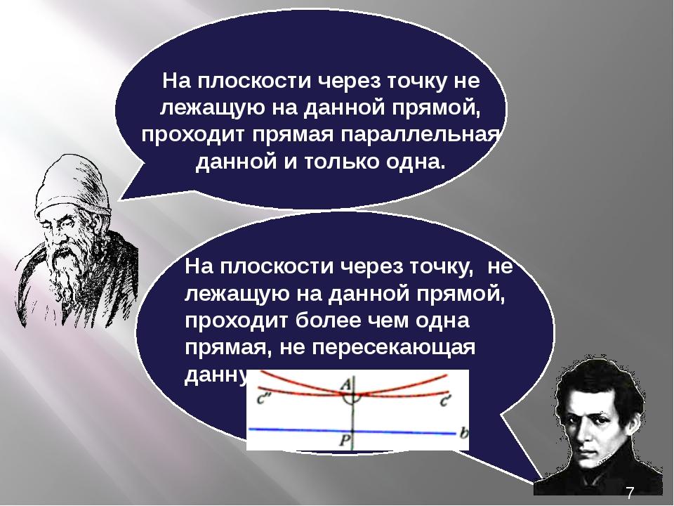 На плоскости через точку не лежащую на данной прямой, проходит прямая паралл...