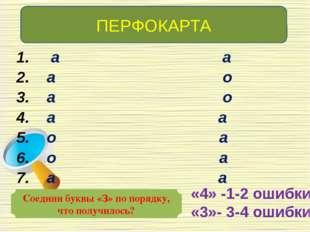 ПЕРФОКАРТА Соедини буквы «З» по порядку, что получилось? а а а о а о а а о а
