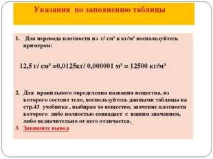 Для перевода плотности из г/ см3 в кг/м3 воспользуйтесь примером: 12,5 г/ см