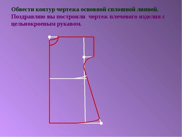 Обвести контур чертежа основной сплошной линией. Поздравляю вы построили черт...