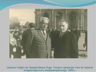 Шамиль Алядин ве Эшреф Шемьи-Заде, Ташкент шеэринде Азия ве Африка языджылар