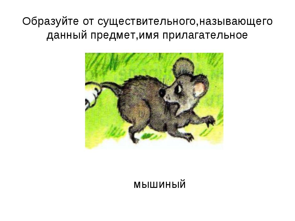 Образуйте от существительного,называющего данный предмет,имя прилагательное м...