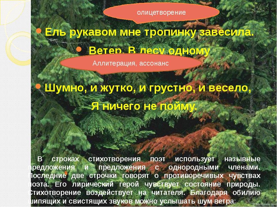 Ель рукавом мне тропинку завесила. Ветер. В лесу одному Шумно, и жутко, и гр...