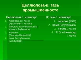 Целлюлоза-кәгазь промышленносте Целлюлоза җитештерү Архангельск өлкәсе (Архан