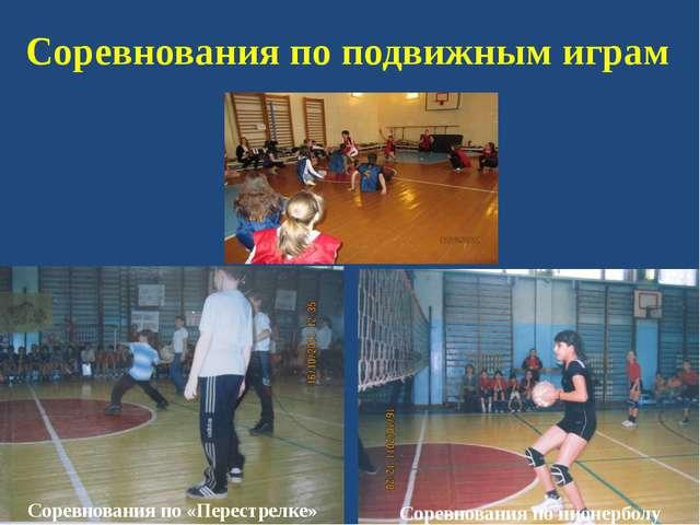 Соревнования по подвижным играм Соревнования по «Перестрелке» Соревнования по...