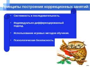 Company name Принципы построения коррекционных занятий: Системность и последо