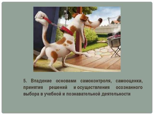 5. Владение основами самоконтроля, самооценки, принятия решений иосуществлен...