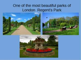 One of the most beautiful parks of London Regent's Park