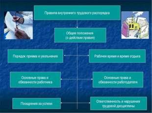 Правила внутреннего трудового распорядка Общие положения (о действии правил)