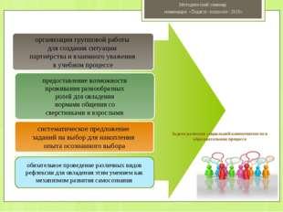 организация групповой работы для создания ситуации партнёрства и взаимного у