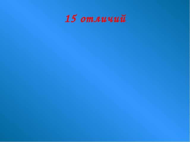 15 отличий