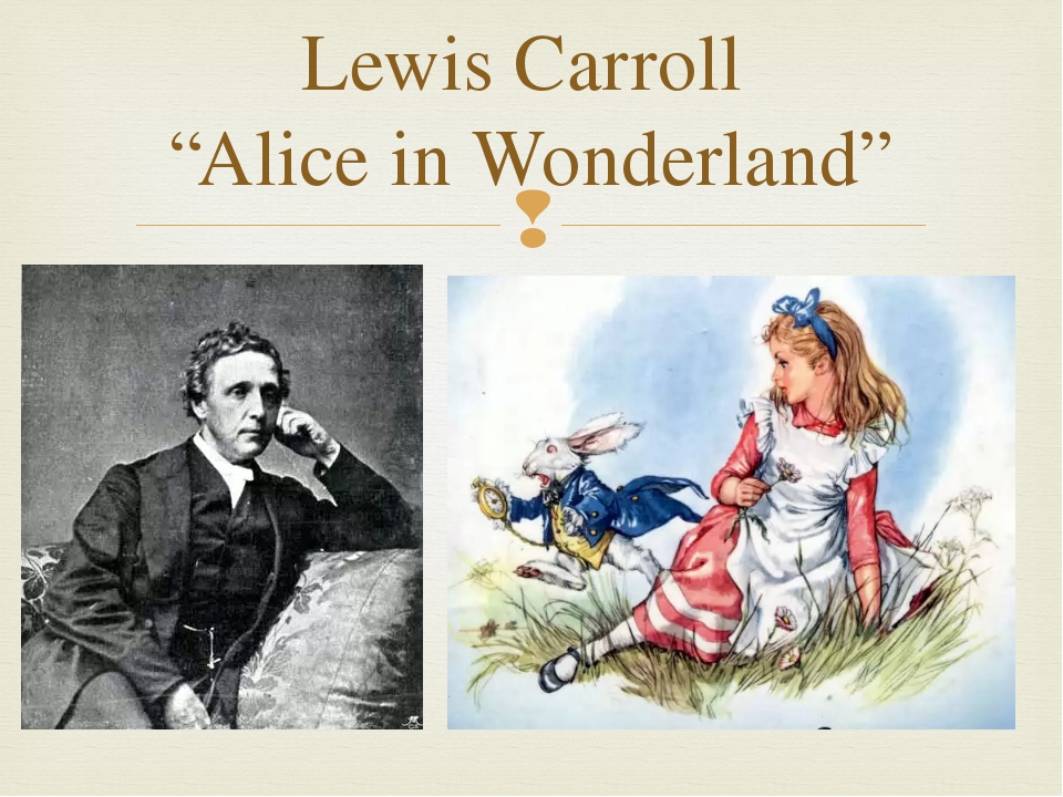 "Lewis Carroll ""Alice in Wonderland"" "