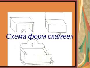 Схема форм скамеек