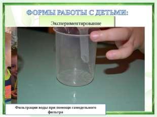 Экспериментирование Фильтрация воды при помощи самодельного фильтра
