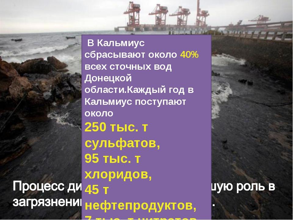 В Кальмиус сбрасывают около 40% всех сточных вод Донецкой области.Каждый год...