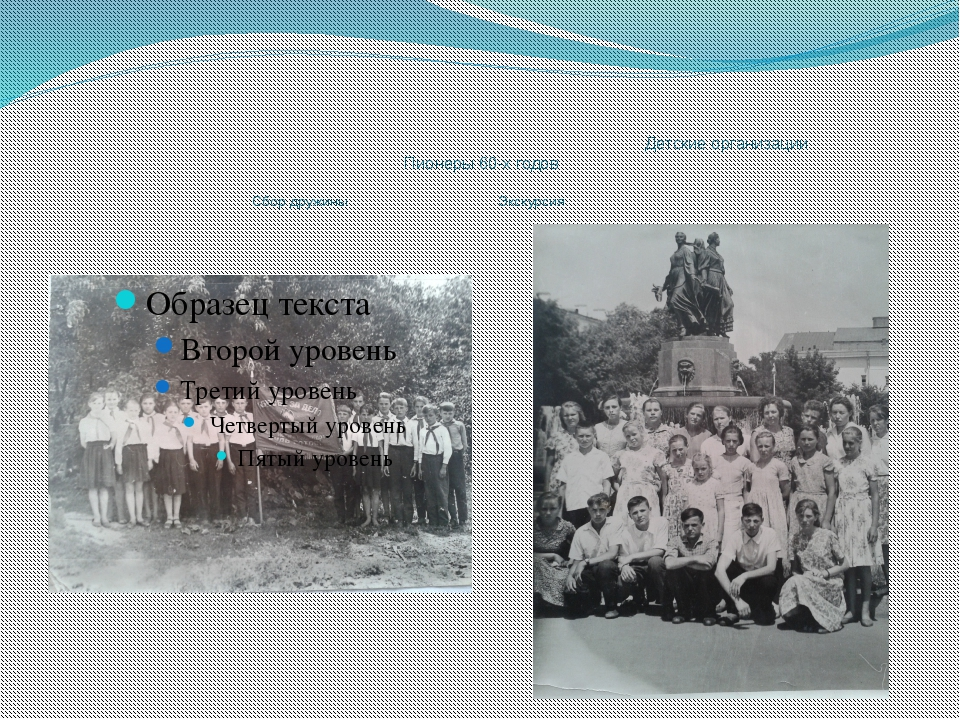 Детские организации Пионеры 60-х годов Сбор дружины Экскурсия