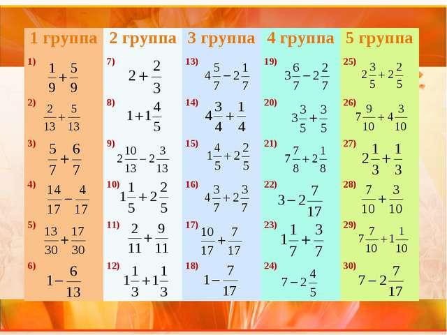 1 группа2 группа3 группа4 группа5 группа 1) 7) 13) 19) 25) 2) 8) 14...