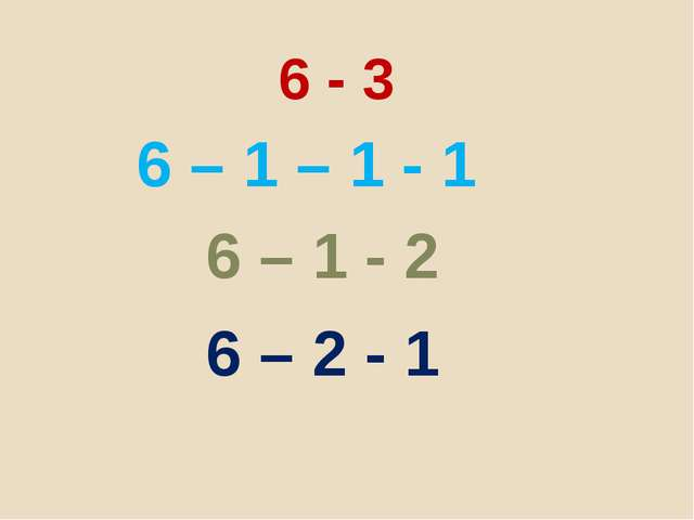 6 - 3 6 – 1 – 1 - 1 6 – 1 - 2 6 – 2 - 1