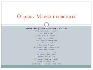 Проектная работа Учащихся 7 класса: Курушина Анастасия Наумов Иван Толмачёва