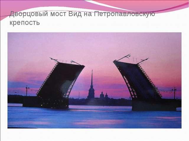 Дворцовый мост Вид на Петропавловскую крепость